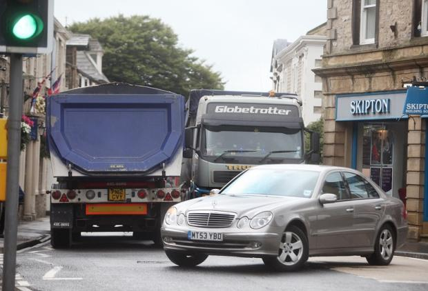 Lorries travelling through Settle