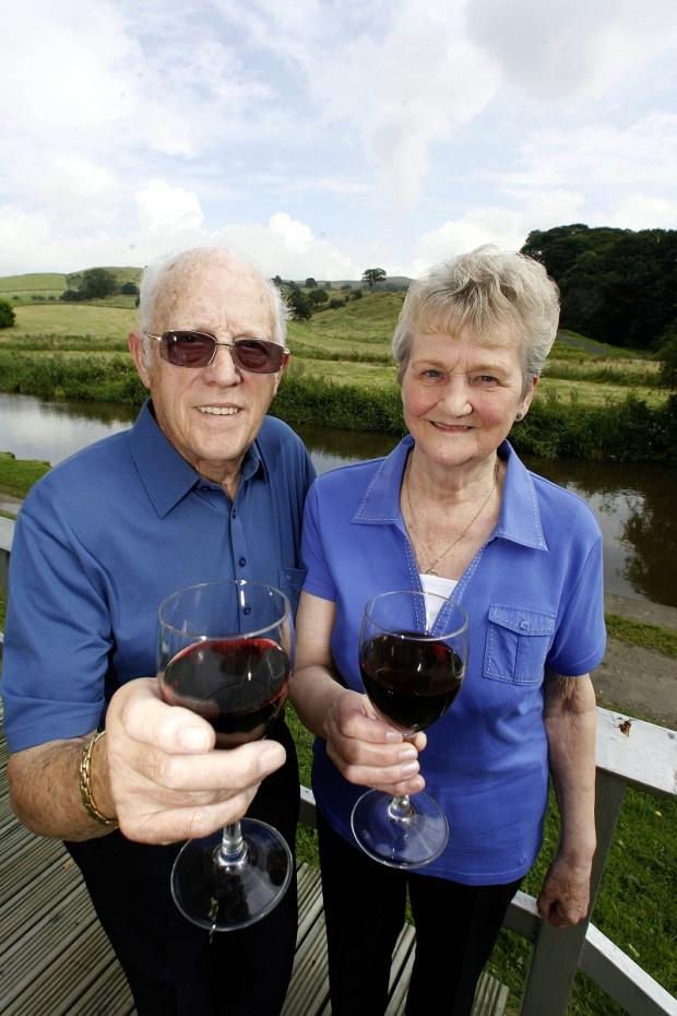Gordon and Betty Whitham at their dream holiday destination – just five miles from home