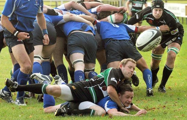North Ribblesdale's scrum comes under pressure at York. Picture: The Press
