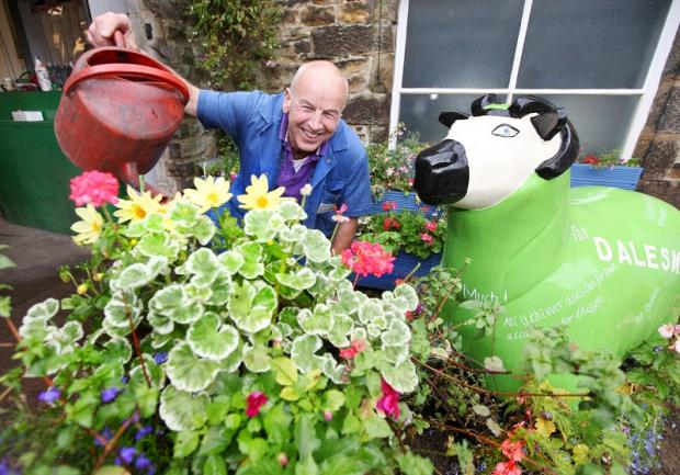 David Baxter who won five categories in the Skipton in Bloom awards