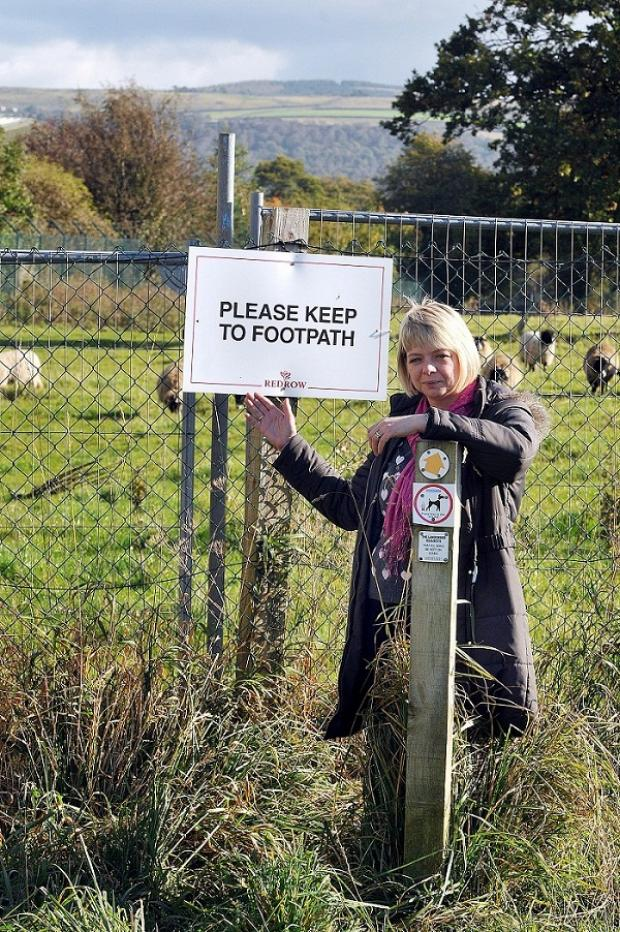 Campaigner Joanne Stokes at the site