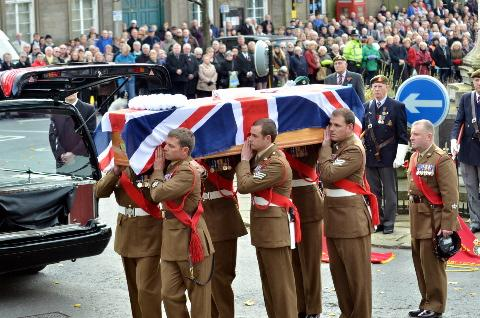 Thousands gather for the funeral of Sgt Gareth Thursby