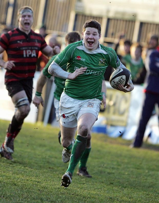 Craven Herald: Simon Horsfall scored a try for Wharfedale