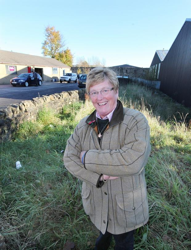 Craven Herald: Coun Jennifer Purcell at the site  of the proposed store
