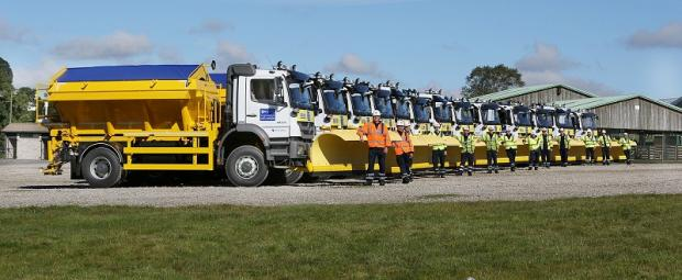 The fleet of gritters