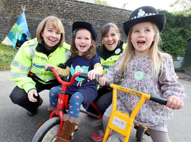PC Liz Rutter, Ella Webster, PC Vicky Barker and Lucy Ebel