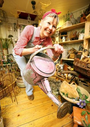 Linda Hartell has launched a new business selling vintage gardening accessories