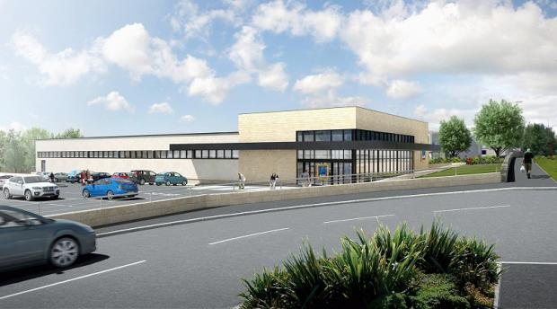 Craven Herald: An artist's impression of the proposed new Aldi store