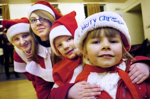 Ingleton's Pantoland festive parade. From left, Sophie Hughes, Bethany Foord, Sarah Tyrie and Mille Boys-Read.