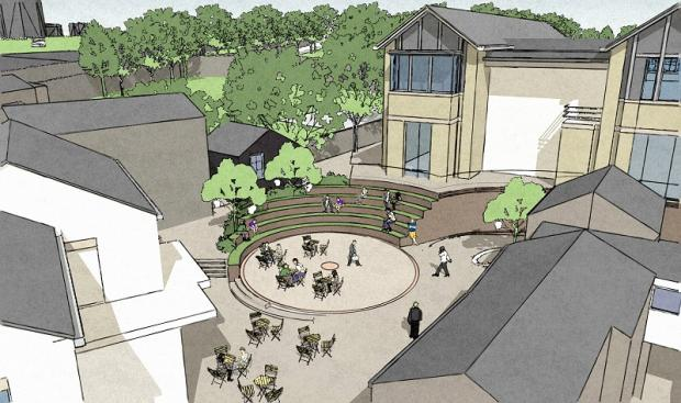 ARTIST'S IMPRESSION: The public area part of the new Maple Grove development in Skipton High Street