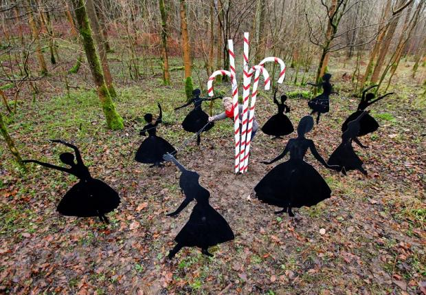 Moira Myers views the Nine Dancers Dancing from The Twelve Days of Christmas