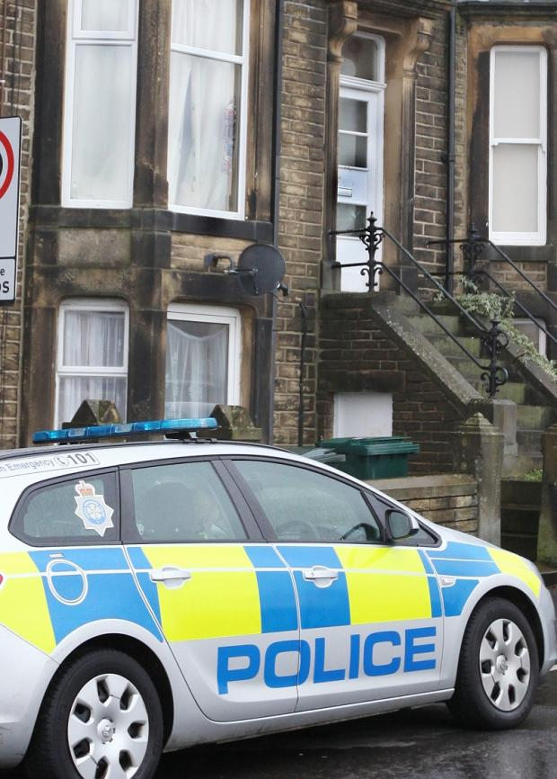Police were still at the scene in Highfield Terrace on Wednesday morning