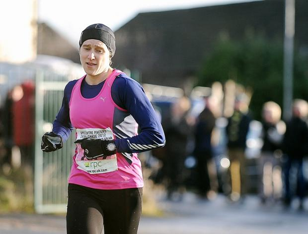 Hebden's Victoria Wilkinson clocked 46min 24sec to be first woman home in the Chevin Chase