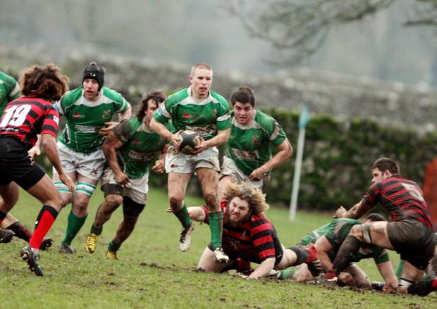 ON THE LOOSE: Wharfedale scrum half Phillip Woodhead breaks clear against Blackheath
