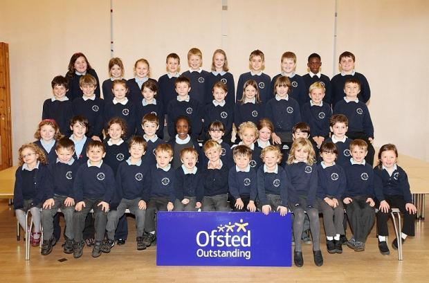 Cracoe Primary School pupils celebrate their outstanding Ofsted report