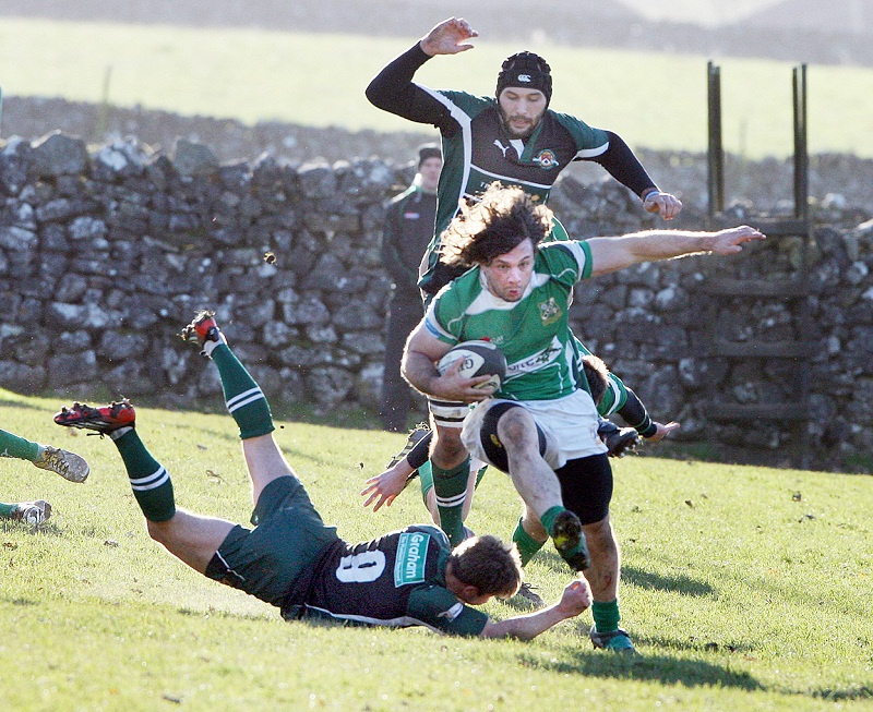 Dan Solomi scored both of Wharfedale's tries