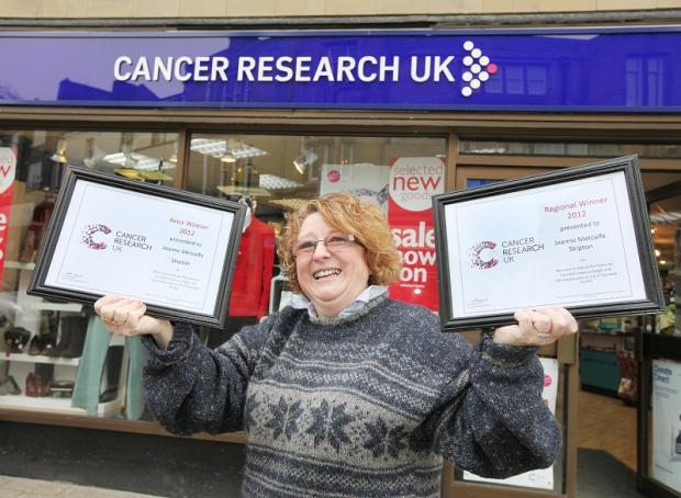 Research UK Skipton's shop manager Joanne Metcalfe