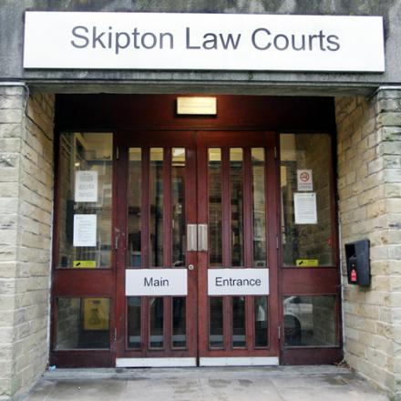 The defendant appeared at Skipton Magistrates' Court