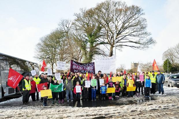 Wagon drivers who face losing their jobs bring their protest to Skipton. Picture by malcolmstoneyphotography.co.uk