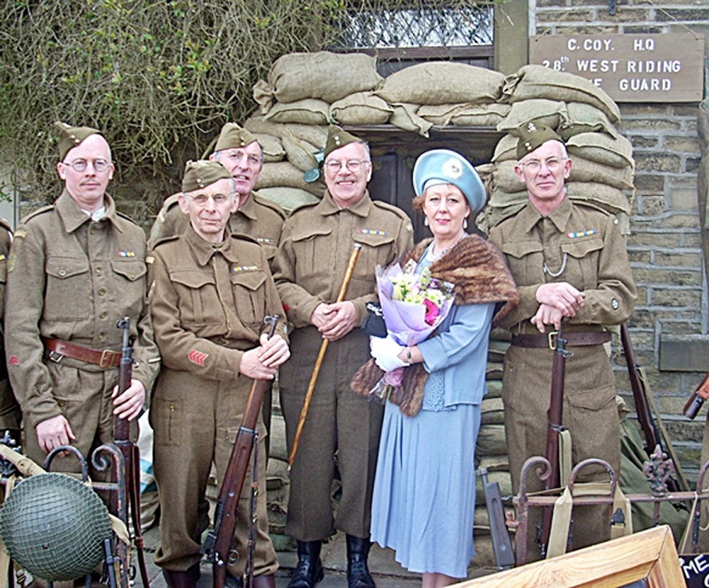 Haworth Home Guard with their own Queen Elizabeth