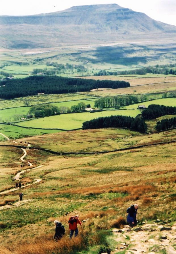 Walkers will tackle the Yorkshire Three Peaks
