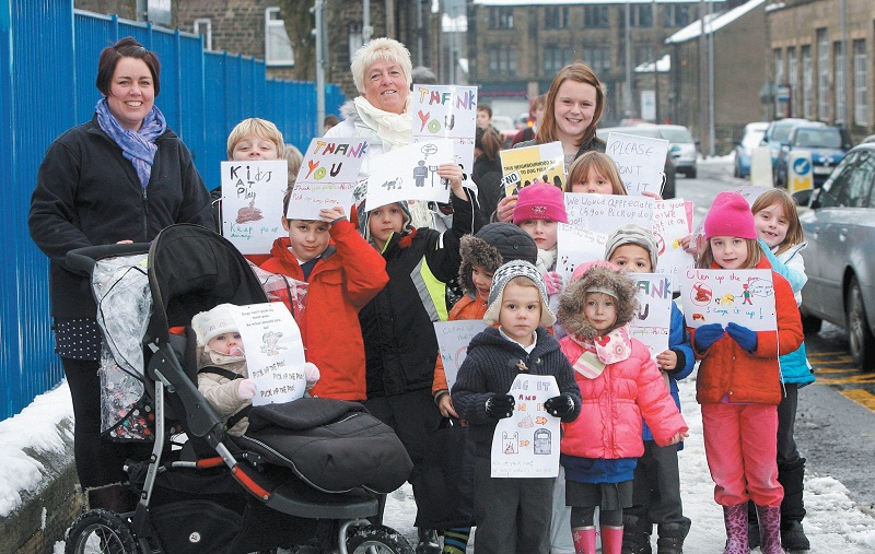 Children and parents in Silsden are taking a stand against inconsiderate dog owners