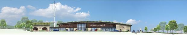 An artist's impression of the proposed Keelham Farm Shop