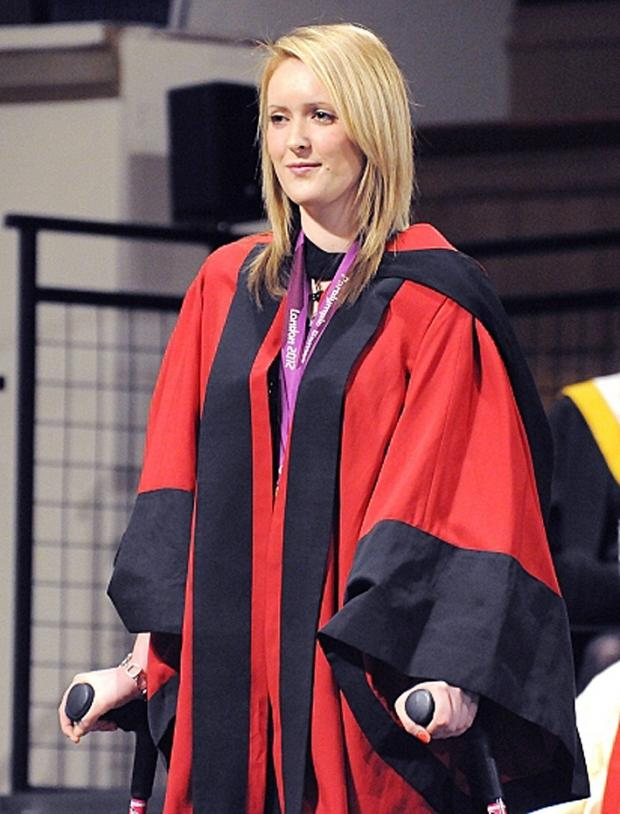 Danielle Brown receives an honorary doctorate from the University of Leicester