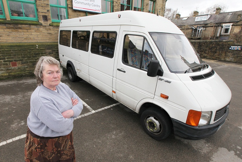 Doris Haigh, chairman of the minibus committee, with the 'village lifeline'