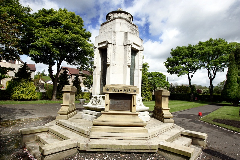 The memorial i Sough Park, Earby
