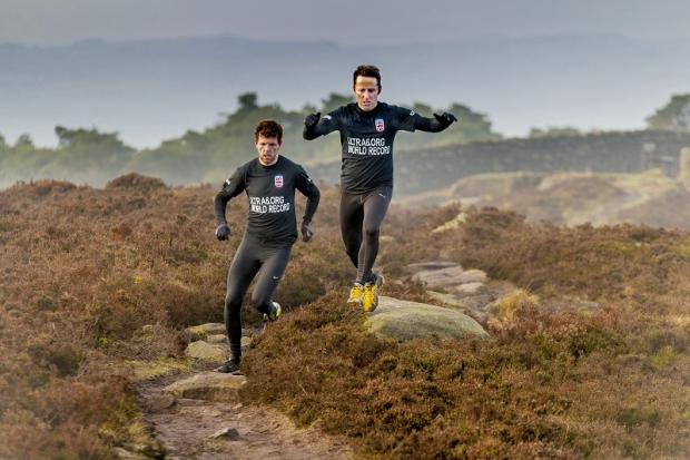 Ben Wood, left, and friend Andy North prepare for a gruelling Land's End to John O'Groats challenge