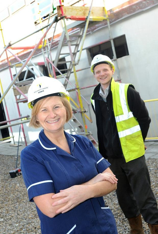 Endoscopy sister Julie Blackburn with site manager Anthony Cooper at Airedale Hospital's new endoscopy unit