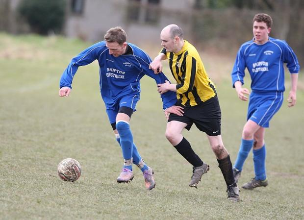 Christian Moon on the attack for Gargrave