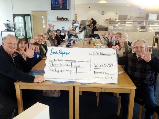Wednesday Luncheon Club raises £320 for Manorlands hospice