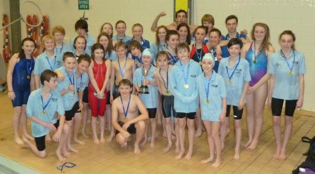 The jubilant Skipton swimming team