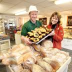 Season's Cakes owner Daniel Nemeth with chairman of The i Centre Rosemary Hartley