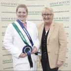 2013 Bishop Burton College Stockmanship winner Megan Thomas with principal of the college Jeanette Dawson