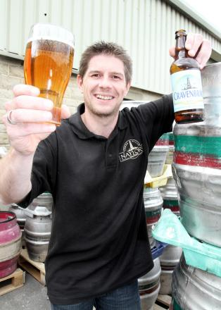Michael Wilkinson, of Naylor's Brewery in Cross Hills, with the  Cravenbrau beer