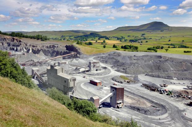 Craven Herald: The quarry at Helwith Bridge