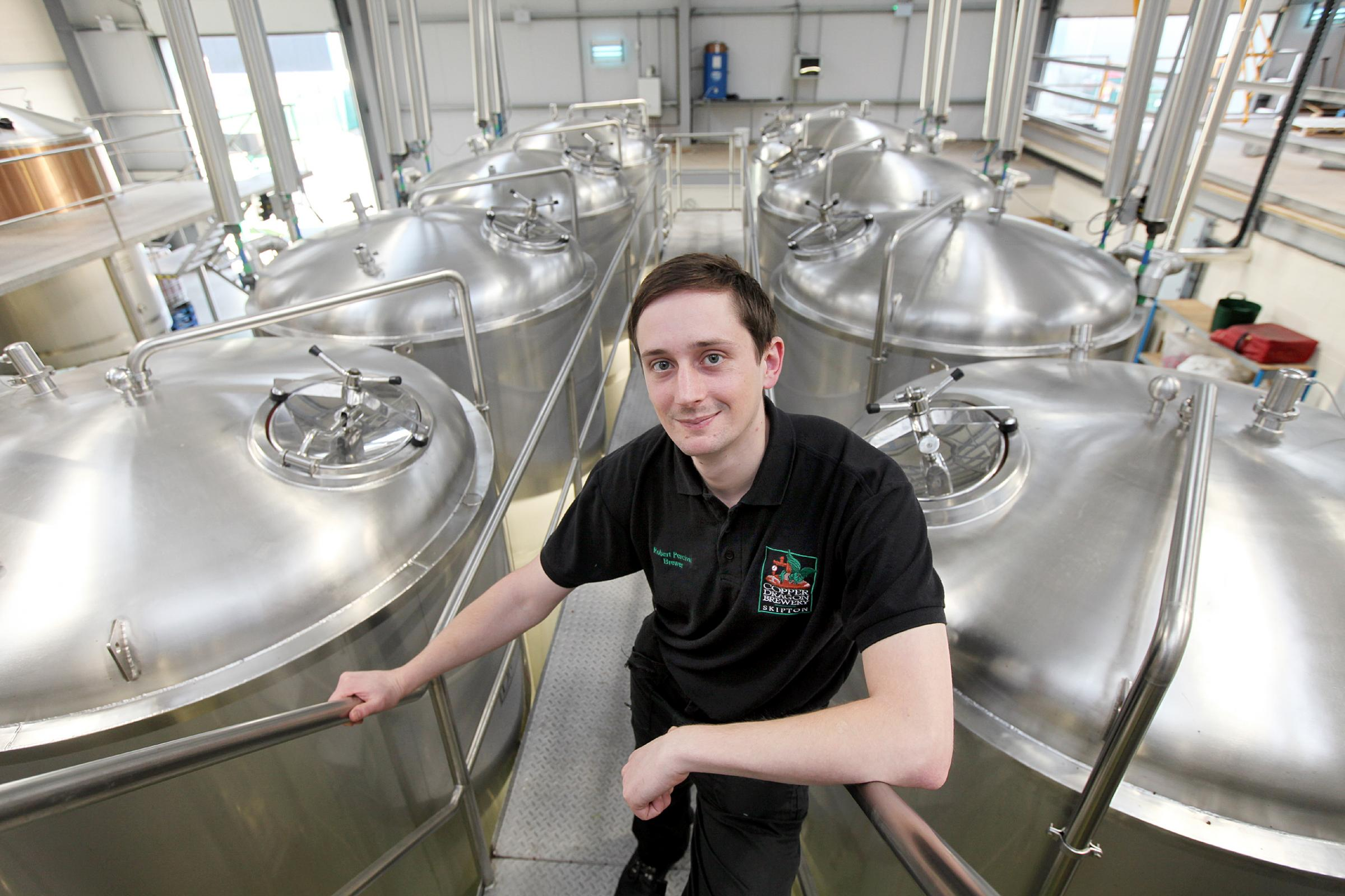 Robert Percival in the brewhouse