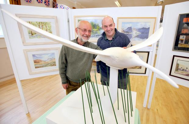 Alan Poxon, right, pictured at last year's art and crafts exhibition