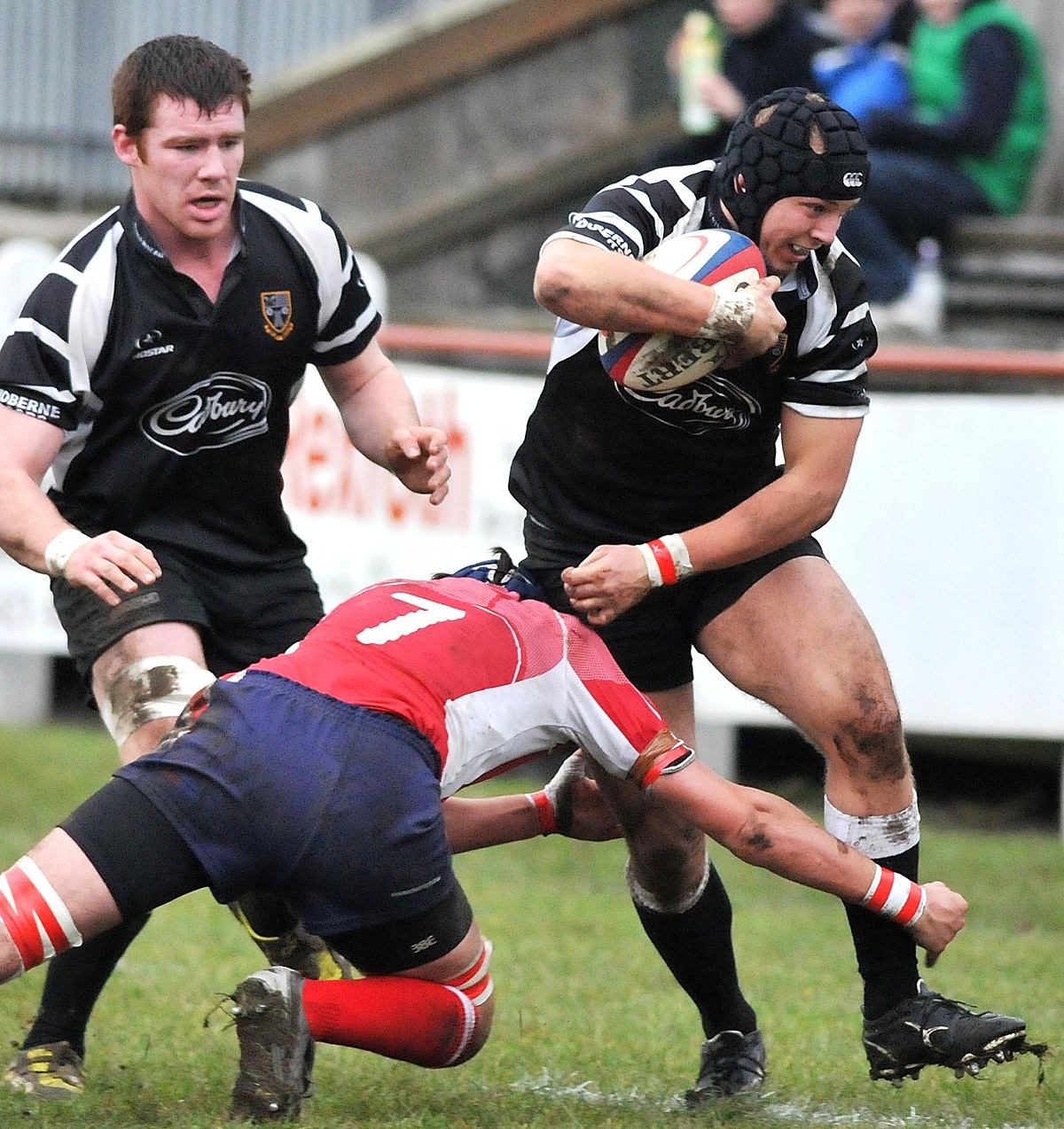 Chris Walker scored three first-half tries for Leeds Carnegie