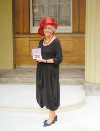 Anne Smyth with her OBE