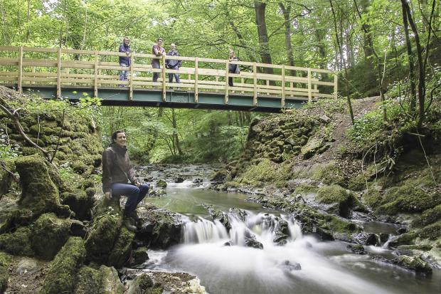 The new bridge in Skipton Woods, which visitors are being asked to name