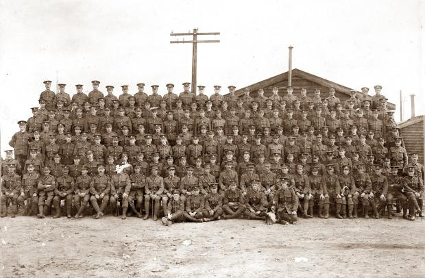 Tunstill's Men, members of the 10th battalion of the Duke of Wellington's Regiment