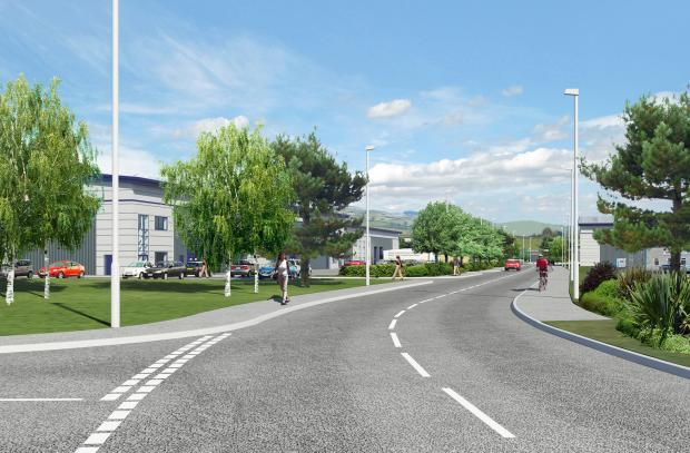 An artist's impression of how the Wyvern Park scheme would look