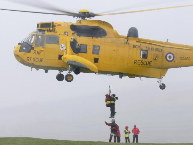 Craven Herald: A rescue operation with the assistance of an RAF helicopter