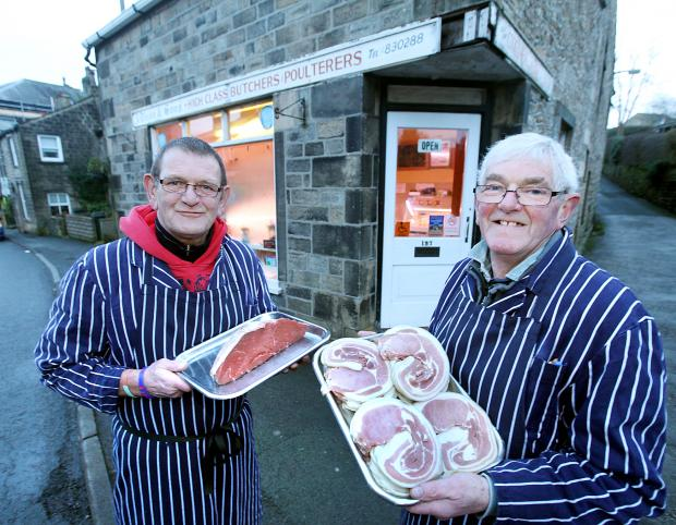 Craven Herald: Roger and John Dixon outside the family shop