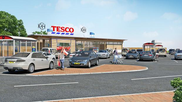 An artist's impression of the proposed 20,000 sq ft medium- sized store which could be built in Keighley Road, Silsden