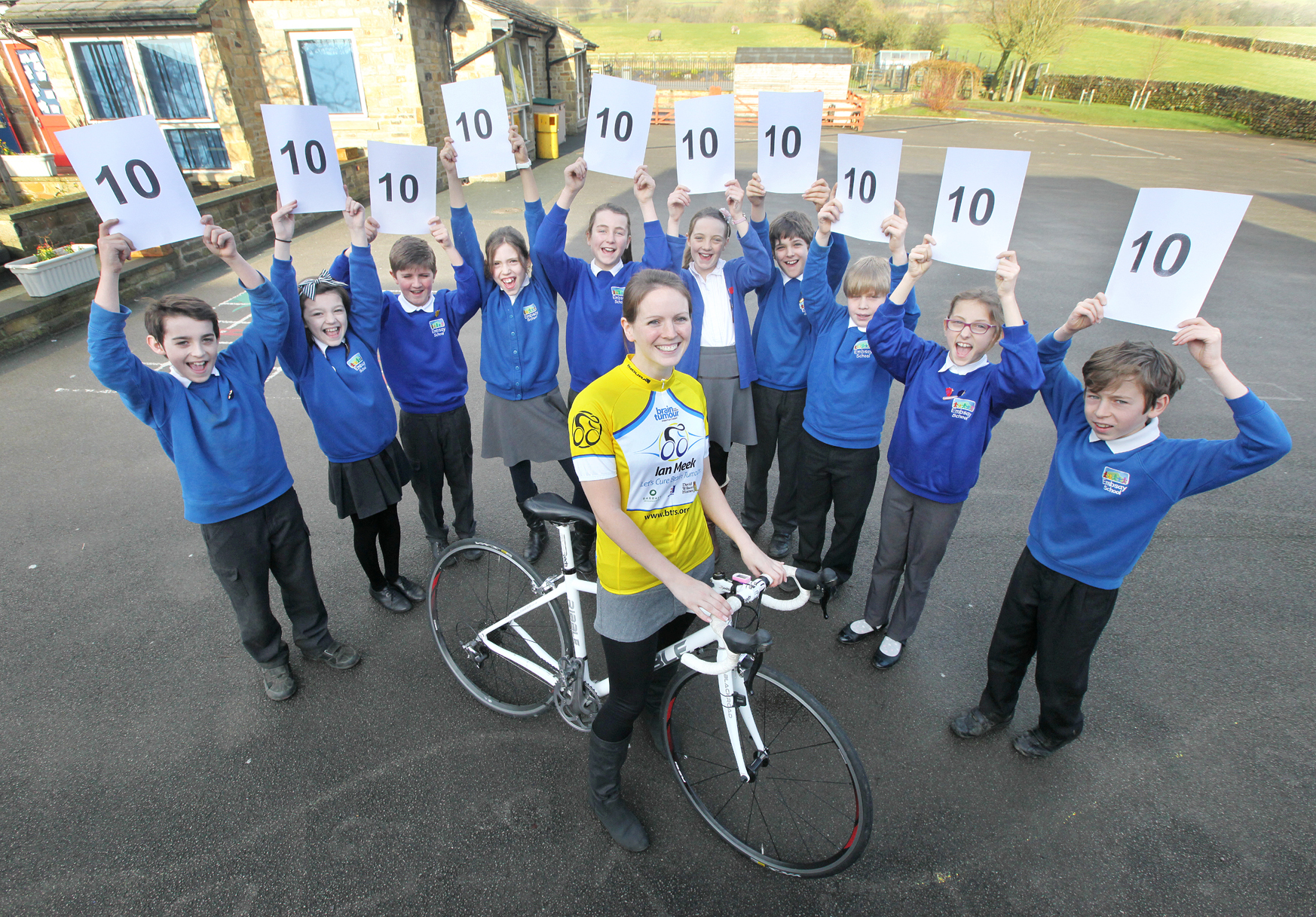 Embsay Primary School teacher Alison Bell has set herself 10 fundraising